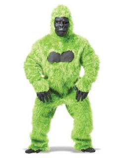 Radioaktiver Gorilla Halloween Tierkostüm für Herren grün-schwarz