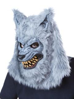 Gefährliche Werwolf Halloween Ani-Motion Maske grau