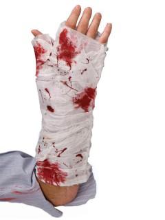 Armverband Arm Bandage blutverschmiert weiss-rot