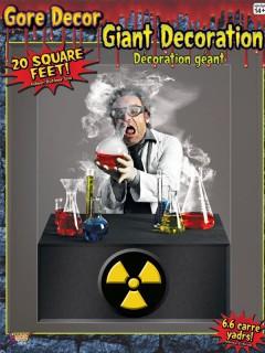 Grausamer Wissenschaftler Halloween-Wanddeko-Folie Labor bunt 120x160cm