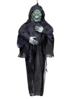 Verrotteter Zombie Halloween-Hängedeko schwarz 150cm