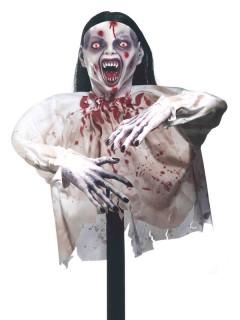 Ground Breaker Zombie-Vampir Halloween-Dekofigur Untote weiss-schwarz 71cm