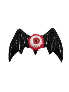 Kreepsville Gothic Haarklammer Fledermaus Auge schwarz-rot