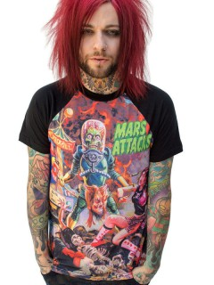 Kreepsville Gothic T-Shirt Mars Attacks Lizenzware schwarz-rot