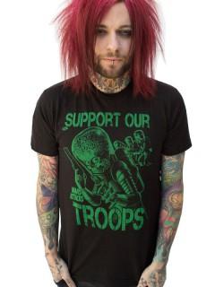 Kreepsville Gothic T-Shirt Mars Attacks schwarz-grün