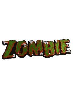 Kreepsville Gothic Patch XL Zombie grün-rot