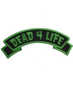 Kreepsville Gothic Patch Dead 4 Life grün-schwarz