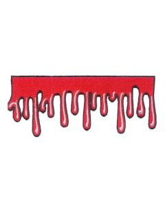 Kreepsville Gothic Aufnäher Blutstropfen rot
