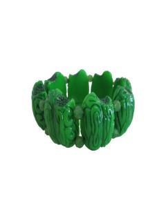 Gothic-Armband Kreepsville Zombie-Hirne grün