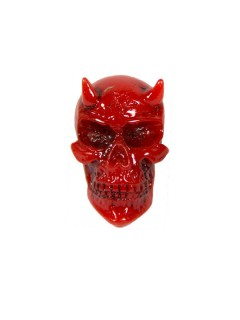 Kreepsville Gothic-Teufelsbrosche Halloween rot