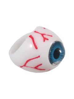 Kreepsville Gothic Ring Auge weiss-blau