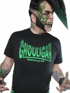 Kreepsville Gothic T-Shirt Ghouligan schwarz