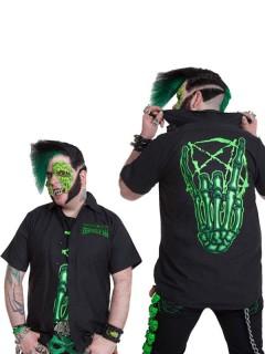 Kreepsville Gothic Hemd Skeletthand schwarz-grün