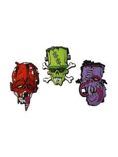 Kreepsville Gothic Aufnäher-Set Toxic Toons bunt 3er Set