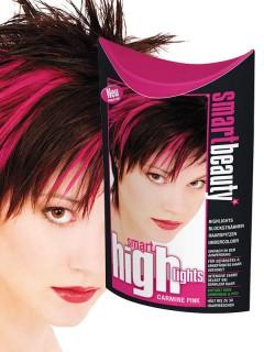 Smart Beauty Highlights Strähnchen Haarfarbe pink