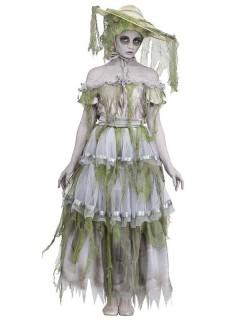 Südstaaten Zombie Halloween Damenkostüm grau-grün