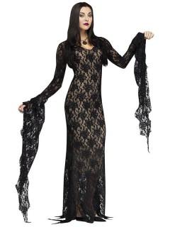 Gothic Vampirin Halloween Damenkostüm schwarz-beige