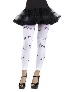 Monsterbraut Halloween-Leggings Nähte weiss-schwarz