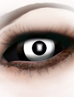Sclera Kontaktlinsen Zombie weiss-schwarz