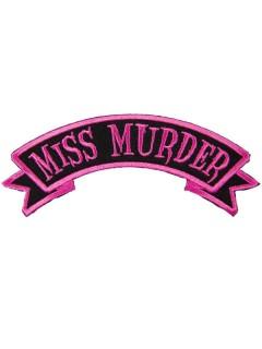 Kreepsville Gothic Aufnäher Patch Miss Murder schwarz-pink