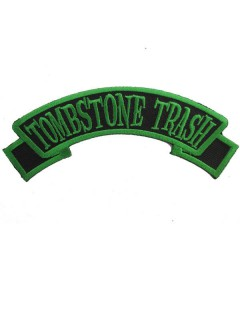 Kreepsville Gothic Patch Tombstone Trash schwarz-grün
