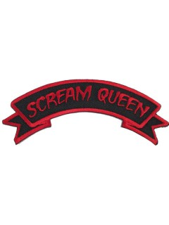 Kreepsville Gothic Aufnäher Patch Scream Queen schwarz-rot