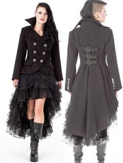 Gothic Barock Damen-Mantel schwarz