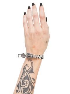 Gothic-Armband Reissverschluss silber