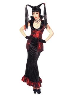 Heisse Hexe Zauberin Halloween Damenkostüm schwarz-rot