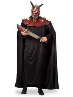Teuflischer Dämon Seelensammler Kostümset Umhang mit Maske schwarz-rot