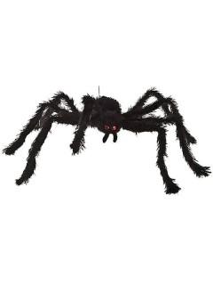 Haarige Riesenspinne Horror Halloween-Deko schwarz 65cm