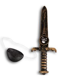 Piraten Dolch schwarz 22cm