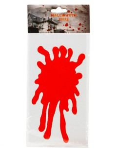 Fenster-Sticker Blut Halloween Party-Deko rot 30x15cm