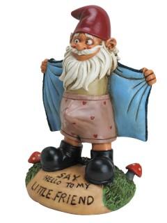 Frivoler Gartenzwerg Deko-Figur bunt 15x19x27cm