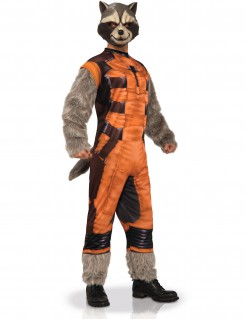 Rocket Raccoon™-Erwachsenenkostüm braun-orange