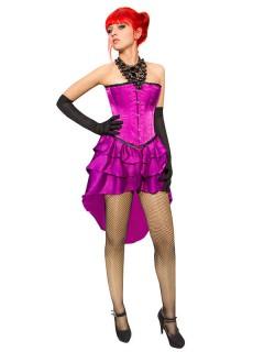Gothic-Korsage mit Rock Halloween-Kostüm violett