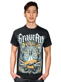 GraveArt-T-Shirt We are many schwarz-weiss-gelb