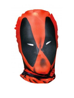 Deadpool Morph-Maske Lizenzware schwarz-rot