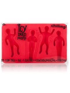 Leichen Eiswürfelform Party-Gadget rot 15x8x2cm