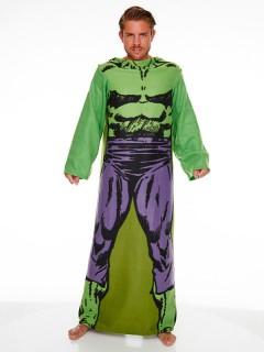 Hulk Bademantel grün-lila