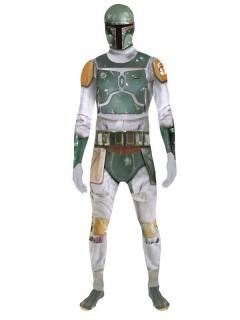 Boba Fett™ Digital Morphsuit Star Wars™ Lizenzware grau-grün