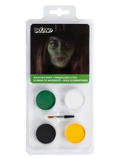 Halloween Deluxe Schmink-Set Hexe grün
