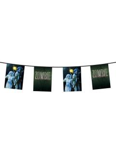 Zombie-Wimpelkette Halloween Party-Deko bunt 600x28,5cm