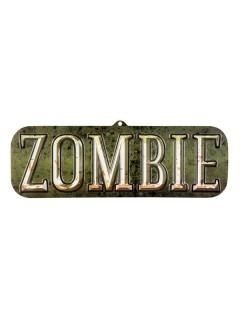Hängeschild Zombie Halloween-Deko bunt 18x55cm