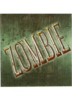Zombie Servietten Halloween Party-Deko 12 Stück grün 33x33cm
