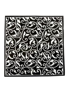 Servietten mit Ornamenten Party-Deko 16 Stück schwarz-weiss 25x25cm