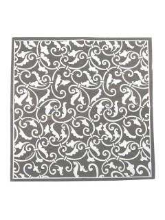 Ornament Servietten Party-Deko 16 Stück silber-weiss 25x25cm
