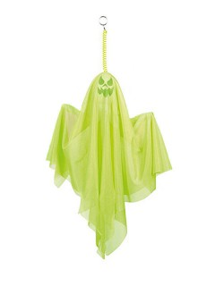 Schauriger Party-Geist Halloween-Deko neon-grün 50cm