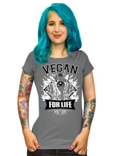 Vegan Girlie Shirt - Vegan for Life Reh