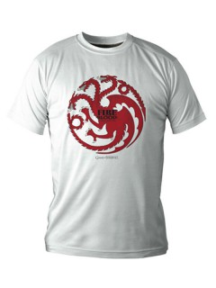 Game of Thrones T-Shirt Targaryen Lizenzware weiss-rot